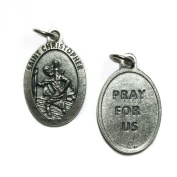 Saint Christopher Travel Travellers Protection Protect Medal Pendant Catholic Silver Tone