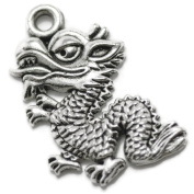 20 Dragons Charms silver tone