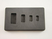 High Density Graphite Mould 1-2-5-10 Gramme Silver Bars Ag 4-Cavities
