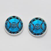 Triple Moon Goddess Earrings Ear Studs. Charm Earrings. Triple Moon Goddess Earrings. Glass Dome Earrings.
