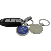Jw.org Metal Ring Key Chain Holder with Circular Clip Logo Design Attached in Gift Box