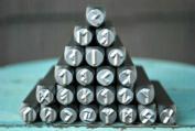 Brand New Supply Guy 6mm Viking Rune 27 Piece Metal Punch Design Stamp Set