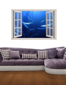 3D Wall Stickers Wall Decals, Underwater World Decor Vinyl Wall Stickers