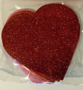 Valentines Day Decorations - 10cm Foam Heart - 12 Per Pack