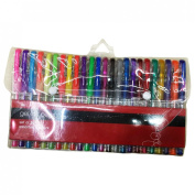 Miraclekoo Gel Colouring Pens. Assorted 24 Pack,Glitter, Neon & Pastel.Superior Quality Gel Coloured Pen