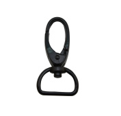 Tianbang Black 2cm Inside Dia D Ring Olive Lobster Clasp Claw Swivel Eye Hole for Strap Pack of 4
