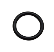 Tianbang Black 2.5cm Inner Diameter O Ring Non Welded Pack of 10
