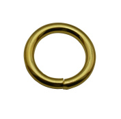 Tianbang Golden 2cm Inner Diameter O Ring Non Welded Pack of 10