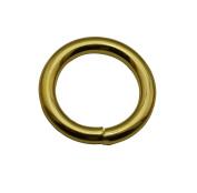 Tianbang Golden 2cm Inner Diameter O Ring Non Welded Pack of 10