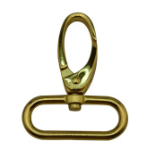 Tianbang Golden 3.2cm Inside Dia Oval Ring Olive Lobster Clasp Claw Swivel Eye Hole for Strap Pack of 4