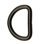 Tianbang Gun Black 2.5cm Inner Diameter D Ring D Rings Non Welded Pack of 10