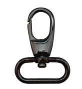 Tianbang Gun Black 3.2cm Inside Dia Oval Ring Olive Lobster Clasp Claw Swivel Eye Hole for Strap Pack of 4