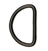 Tianbang Gun Black 3.8cm Inner Diameter D Ring D Rings Non Welded Pack of 6
