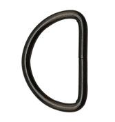 Tianbang Gun Black 3.8cm Inner Diameter D Ring D Rings Non Welded Pack of 6