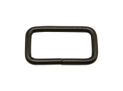 Tianbang Gun Black 5.1cm x 2cm Inner Dimension Non Welded Rectangle Buckle for Strap Pack of 4