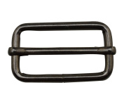 Tianbang Gun Black 5.1cm x 2cm Inner Size Non Welded Rectangle Buckle with sliding Bar for Strap Pack of 4