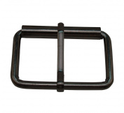 Tianbang Gun Black 5.1cm x 2.5cm Inner Size Non Welded Rectangle Buckle with sliding Pin for Strap Pack of 4