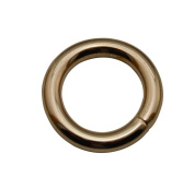 Tianbang Light Golden 1.5cm Inner Diameter O Ring Non Welded Pack of 15
