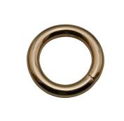 Tianbang Light Golden 1.5cm Inner Diameter O Ring Non Welded Pack of 15