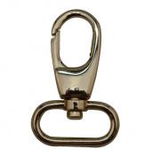 Tianbang Light Golden 2.5cm Inside Dia Oval Ring Olive Lobster Clasp Claw Swivel Eye Hole for Strap Pack of 4