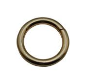 Tianbang Light Golden 3cm Inner Diameter O Ring Non Welded Pack of 6