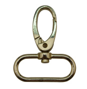Tianbang Light Golden 3.2cm Inside Dia Oval Ring Olive Lobster Clasp Claw Swivel Eye Hole for Strap Pack of 4