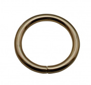 Tianbang Light Golden 3.8cm Inner Diameter O Ring Non Welded Pack of 4