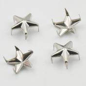 "100 Star Stud Shape 12mm 1/2"" Nickel Spike Biker Punk Rock Spot Nailhead for Craft Leather"