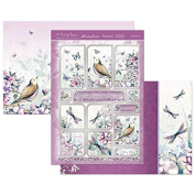 Hunkydory A Touch of Shimmer Lilac Dreams Luxury Topper Set Card Kit