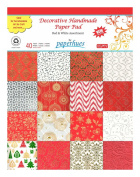 Paperhues Red-White Celebration Paper Pad 22cm x 28cm , 40 Sheets. Decorative Specialty Handmade Origami Papers for Valentines Gift Wrap, Valentines Cards, Scrapbooking, Decor, Art and Craft Projects.