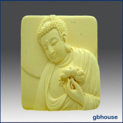 Buddha Holding Lotus - Detail of High Relief Sculpture - Silicone Soap/polymer/clay/cold Porcelain Mould