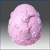 Ms. Easter Bunny Egg - 3d Soap/candle/polymer/clay/cold Porcelain Silicone Mould
