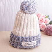Korea Autumn and Winter Fashion Acrylic Wool Hat Winter Patch Blending Sphere Hats for Woman Warm Cap Skullies Beanies 5 Colour to Choose
