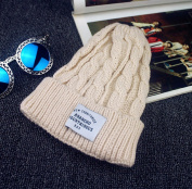 New Fashion Autumn and Winter Hemp Flowers Patch Warm Outdoor Bonnet Femme Lady Knitted Hats for Women Skullies Beanies 5 Colour to Choose