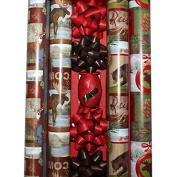 Animal Theme Deluxe Wrapping Paper - 4 Rolls