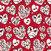 Magpie Valentine's Day Wrapping Paper - 1.8m Roll