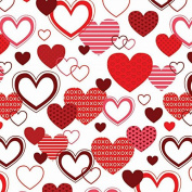 XOXO Valentine's Day Wrapping Paper - 1.8m Roll