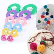 Surepromise Pompom maker 6 sizes pom poms bobble maker kit knitting crafts ball tool -- 2.5CM/3.5CM/4.5CM/5CM/7CM/9CM
