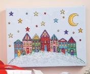 Colourful Houses Dmc Cross Stitch Kits,14ct 137x99stitch,36x29cm Counted Cross Stitch Kit