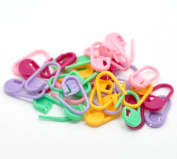 Colourful Plastic Knitting Weave Crochet (200 pcs) Locking Stitch Needle Clip Markers Holder Hook