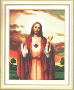 Home Decoration DIY Printed Needlework Sets Counted Cross Stitch Kits Embroidery Kits, Jesus