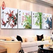 YGS-3 DIY 5D Diamond Mosaic Plum Orchid Bamboo Chrysanthemum flowers Diamond Painting Cross Stitch diamond embroidery Home Decoration 中国制造 钻石画