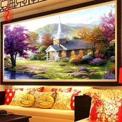 YGS-31 DIY 5D Diamond Mosaic Beautiful Lake House Scenery Full Diamond Painting Cross Stitch Kits Diamonds Embroidery Home Decoration