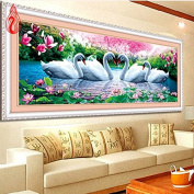 YGS-41 DIY 5D Swan Eternal Love Round Diamond Painting Cross Stitch Kits Soulmate Diamond Mosaic Home Decor Diamonds Embroidery