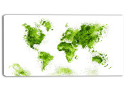 Design Art Green - Map Canvas Art #PT2708-2