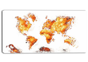 Design Art Orange - Map Canvas Art #PT2708-4
