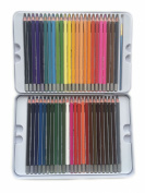 Max Extra Watercolour Pencil, Set of 48 Assorted Colours, High Quality Water Soluble Coloured Pencil for Artist Sketch and Secret Garden, Tin Case with Water Brush