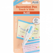 Decoration Pen Touch 'n' Slide Refill-Blue W/White Dots