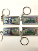 Set of 12 100 Hundred Dollar Bill Keychain USA Patriotic Souvenir Gift with Organza Gift Bag / Gift for Man/ Party Favour/funny Gift