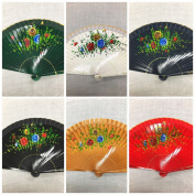 Set of 12 High Quality Vintage Dance Wooden Folding Hand Held Fan with Organza Gift Bag Multi-colours Wedding Party Decor /Spanish Fan/dancing Fan/table Setting /Wall Decoration